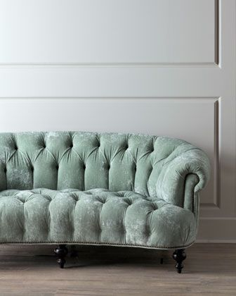 Boogie's Boutique | Green Chesterfield Sofa